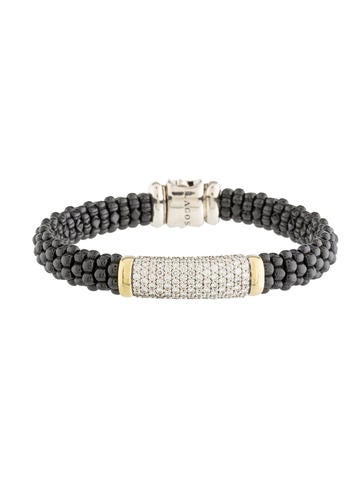 Lagos Black Caviar Diamond Beaded Bracelet None