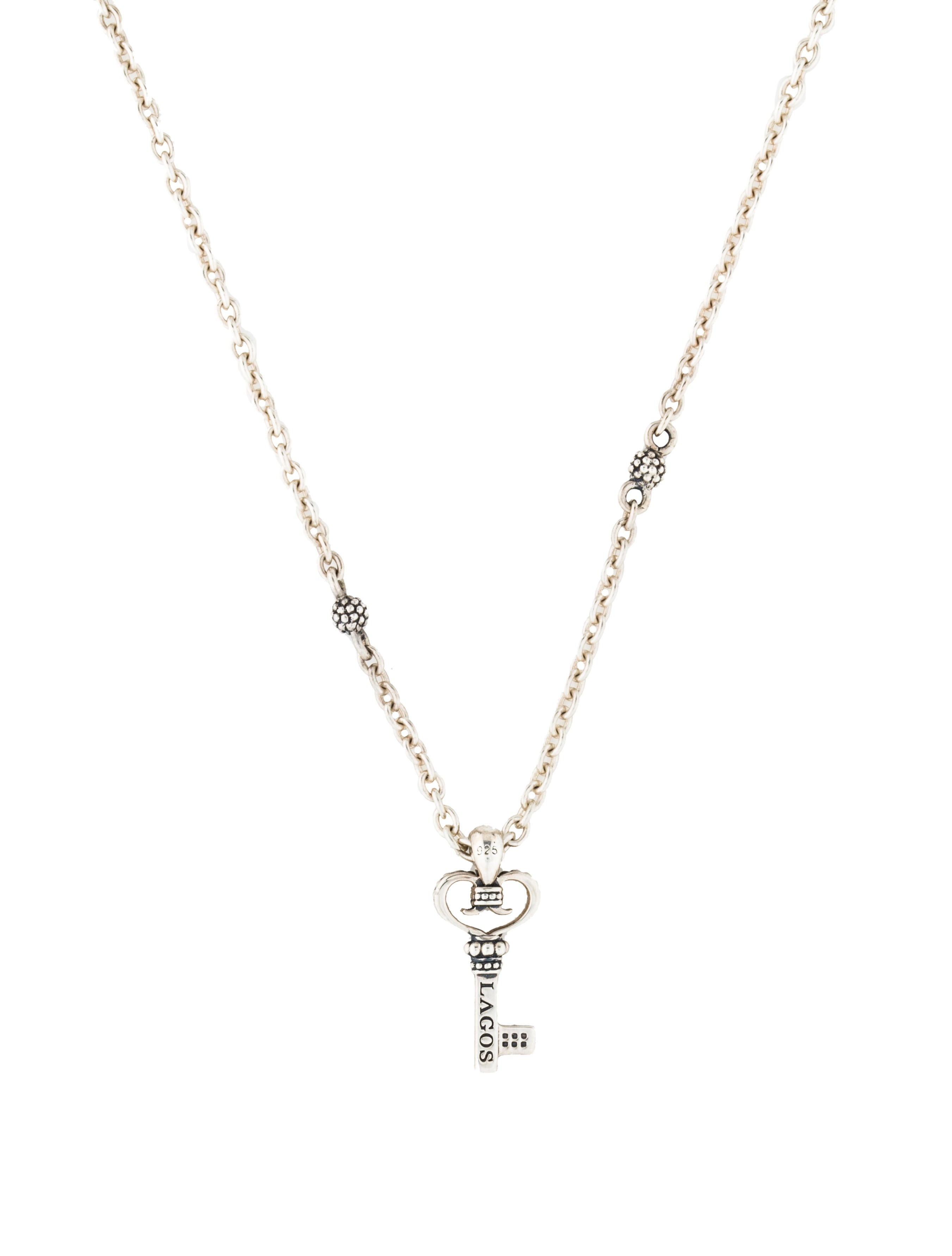 Lagos beloved diamond key pendant necklace necklaces lag22829 beloved diamond key pendant necklace mozeypictures Image collections