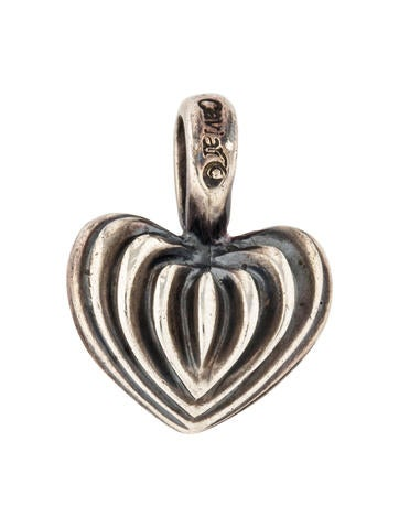 Lagos Fluted Heart Pendant None