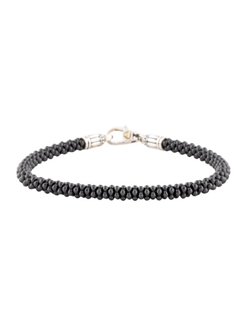 Lagos Black Caviar Beaded Bracelet Black