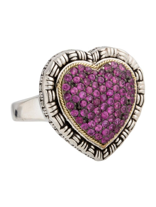 Lali Jewels Ruby Cocktail Ring silver - image 1