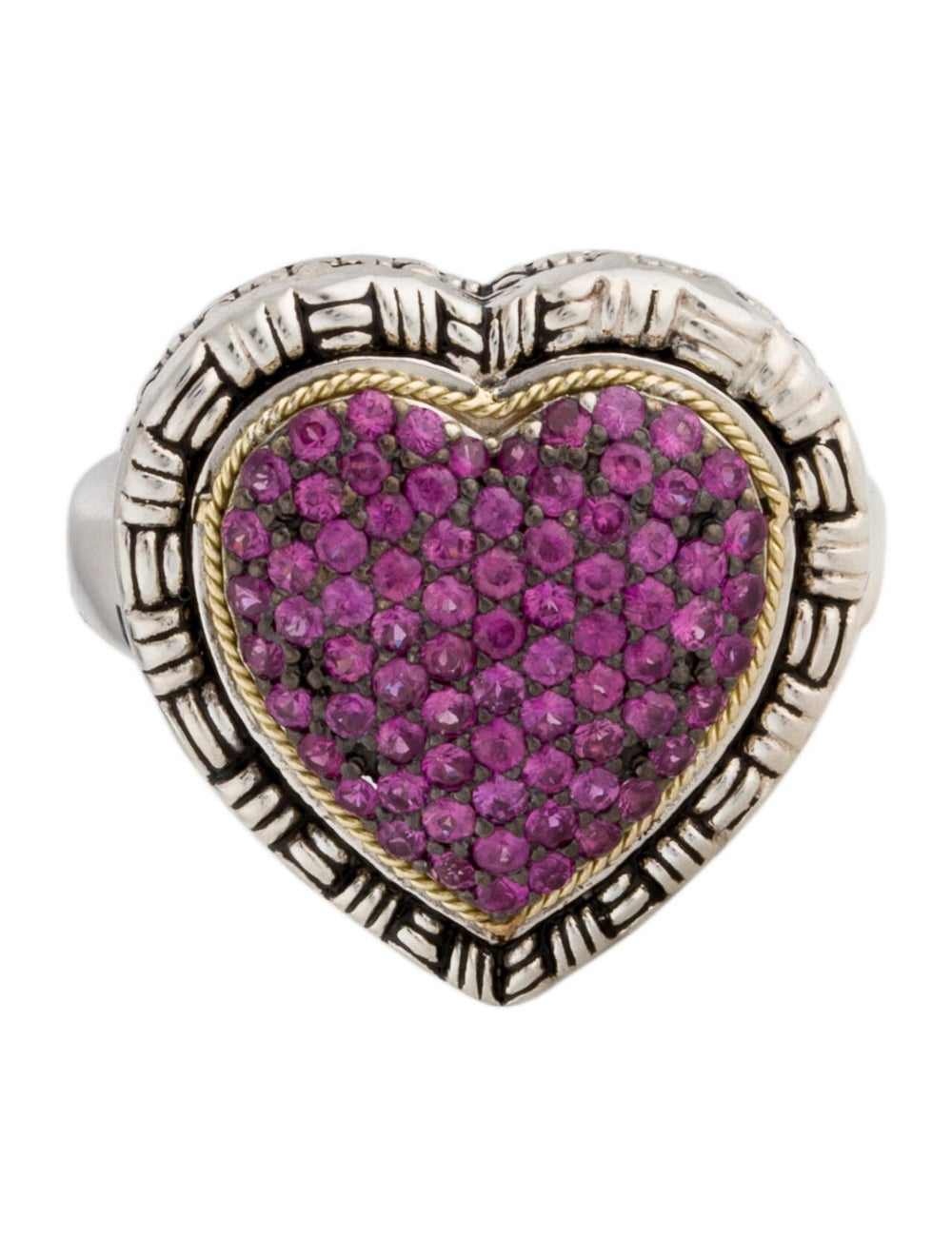 Lali Jewels Ruby Cocktail Ring silver - image 3
