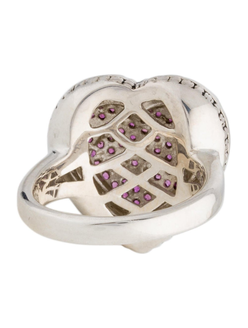 Lali Jewels Ruby Cocktail Ring silver - image 4