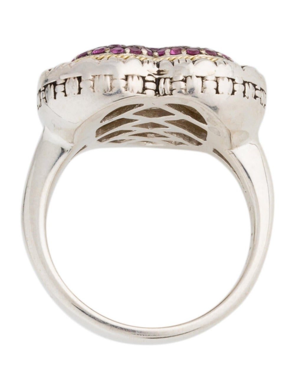 Lali Jewels Ruby Cocktail Ring silver - image 5