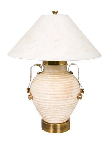 Ceramic & Brass Table Lamp None