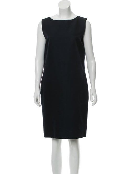 Lanvin Sleeveless Knee-Length Dress Navy