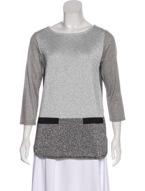 Lanvin Metallic Lightweight Sweater Silver
