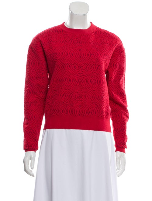 Lanvin Knit Textured Sweatshirt Red