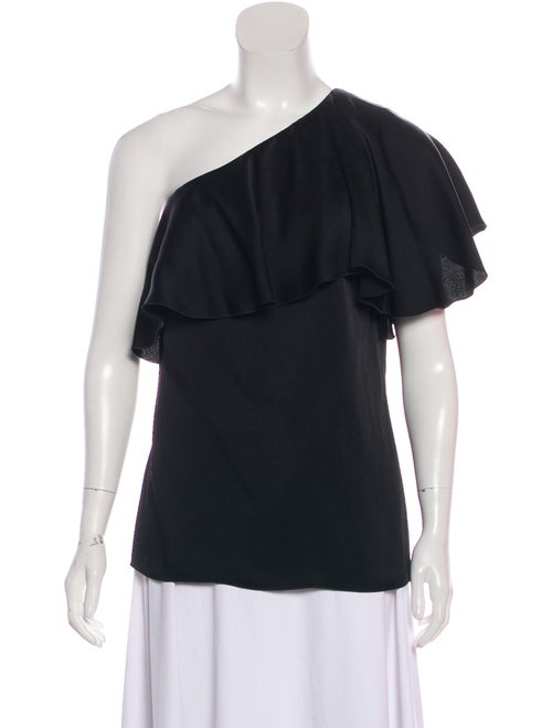 Lanvin Ruffle-Accented One-Shoulder Blouse w/ Tags