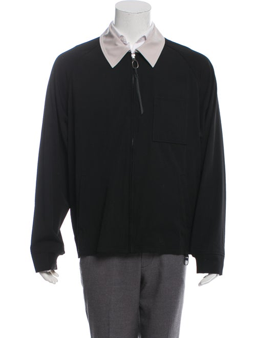 Lanvin Lightweight Wool Shirt Jacket black