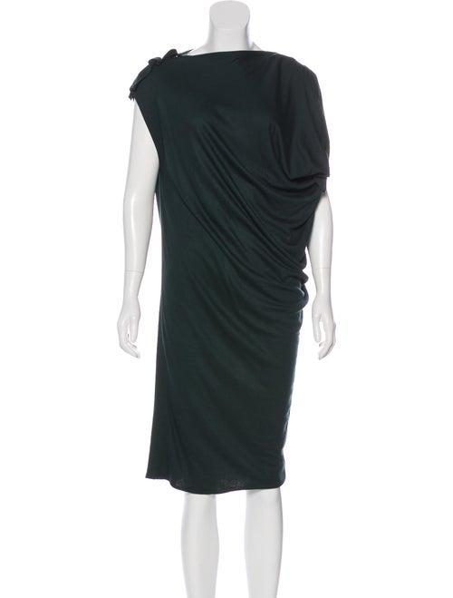 Lanvin Knit Midi Dress Green