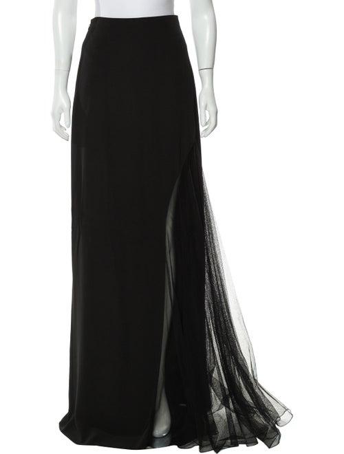 Lanvin A-Line Maxi Skirt Black - image 1