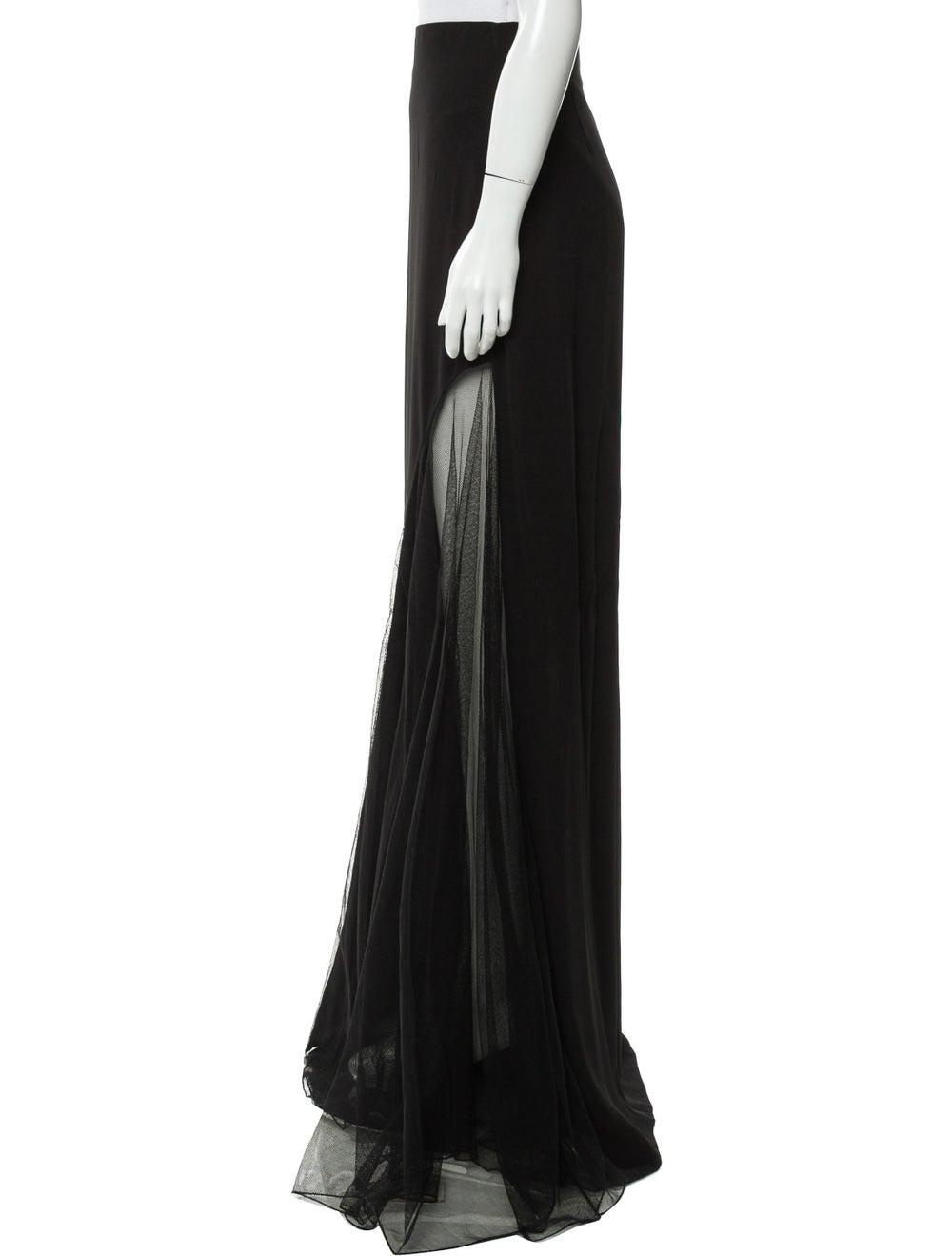 Lanvin A-Line Maxi Skirt Black - image 2
