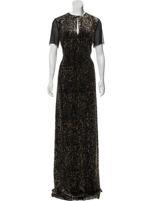 Lanvin Metallic Evening Dress w/ Tags Black