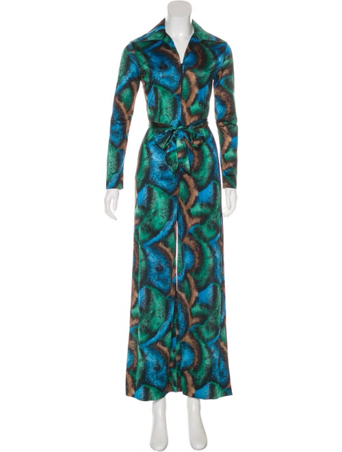 Lanvin Abstract Pattern Jumpsuit Green