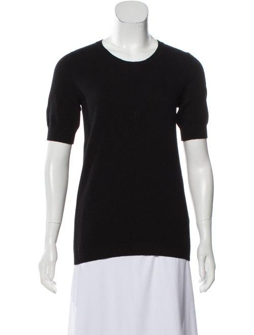Lanvin Knit Short Sleeve Sweater Black