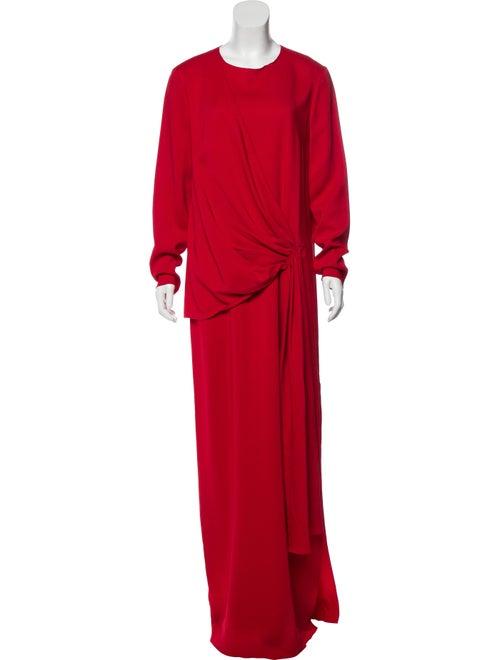 Lanvin Long Sleeve Maxi Dress