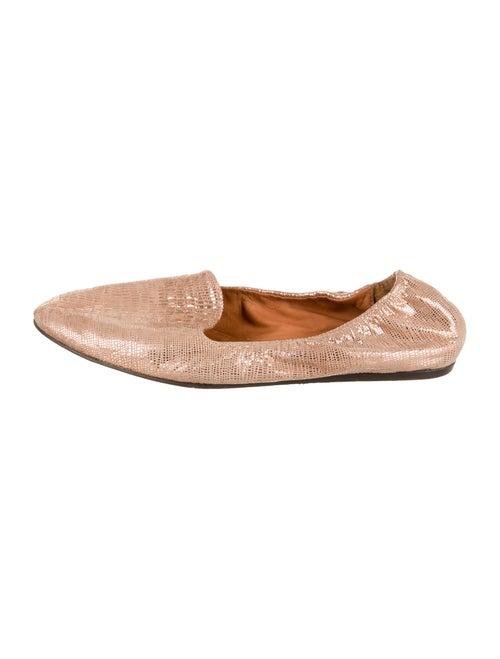 Lanvin Metallic Round-Toe Flats Metallic