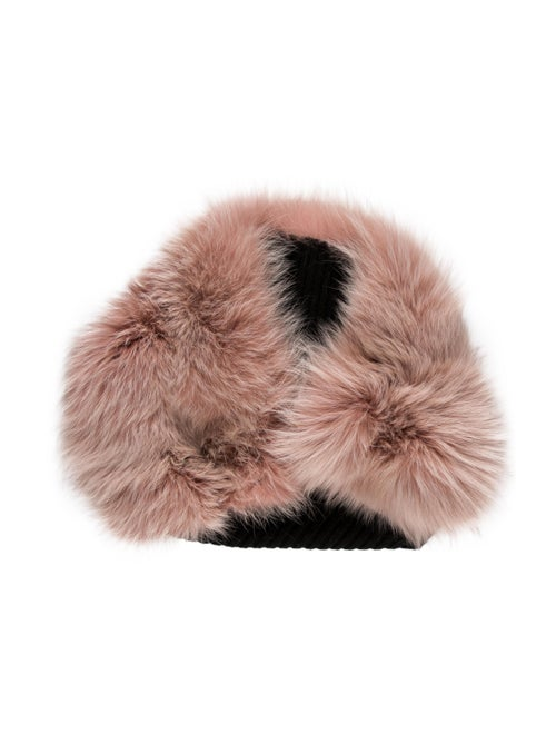 Lanvin Fox Fur Stole Pink