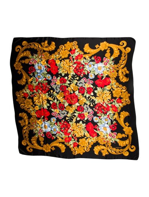 Lanvin Silk Printed Scarf Black