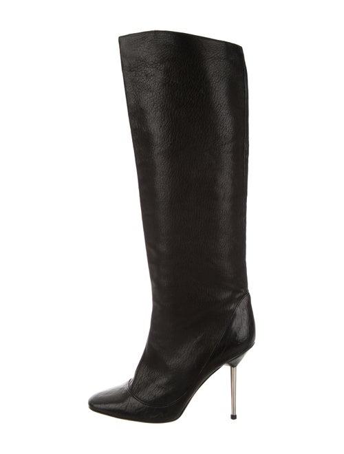 Lanvin Leather Knee-High Boots Black