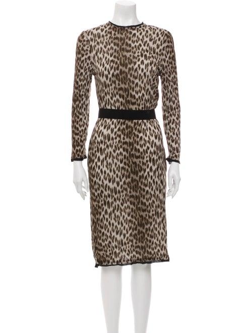 Lanvin Animal Print Midi Length Dress
