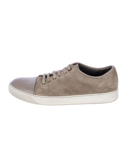 Lanvin Suede Low-Top Sneakers