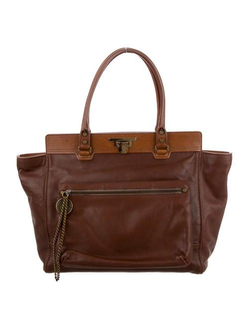 Lanvin Leather Shoulder Bag Brown