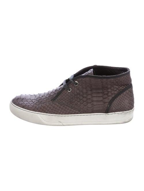 Lanvin Snakeskin High-Top Sneakers