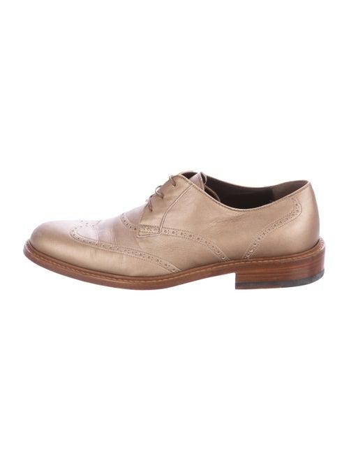 Lanvin Brogue Derby Shoes beige