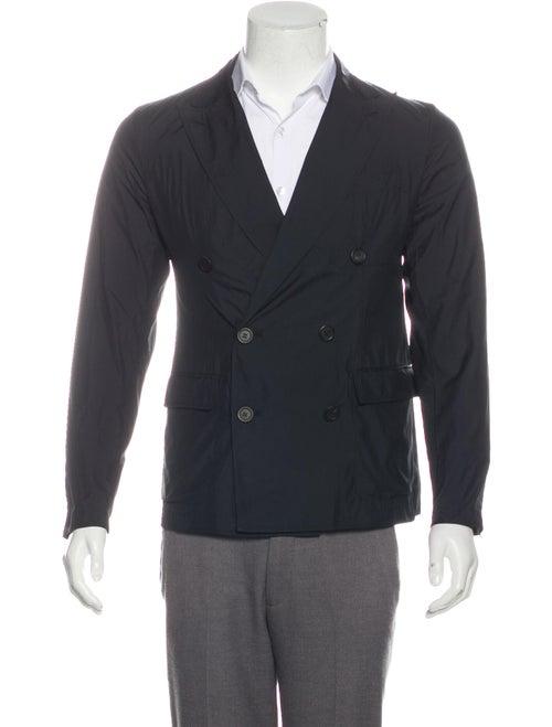 Lanvin Lightweight Double-Breasted Blazer black