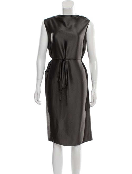Lanvin Satin Midi Dress