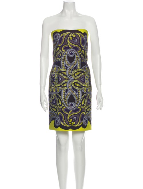 Lanvin Paisley Print Mini Dress Brown - image 1