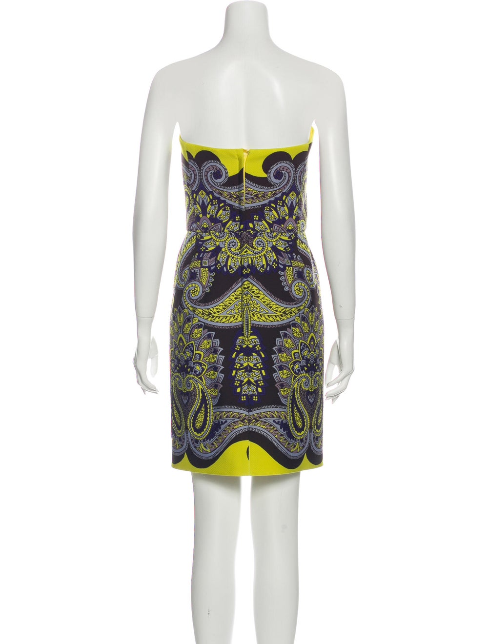 Lanvin Paisley Print Mini Dress Brown - image 3