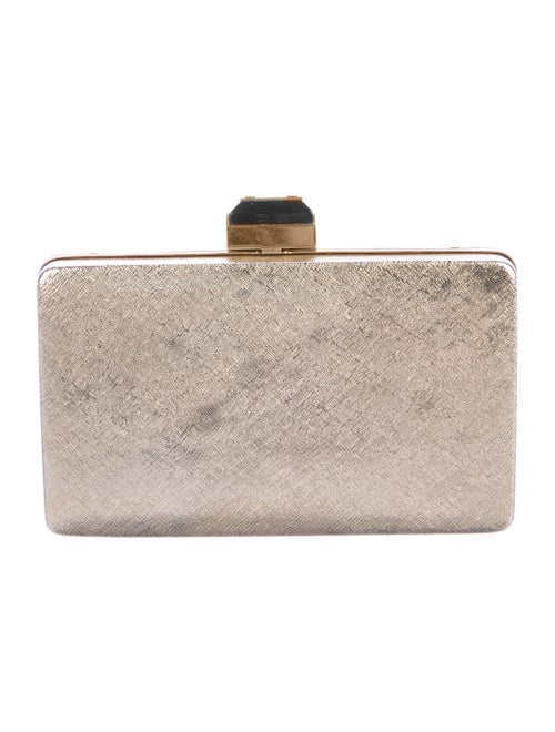 Lanvin Metal Box Clutch Metallic