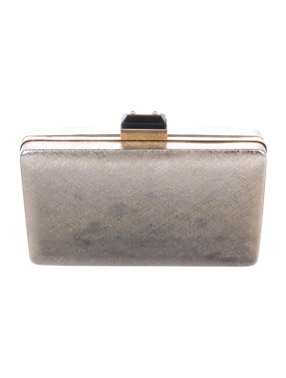 Lanvin Metal Box Clutch Metallic - image 4