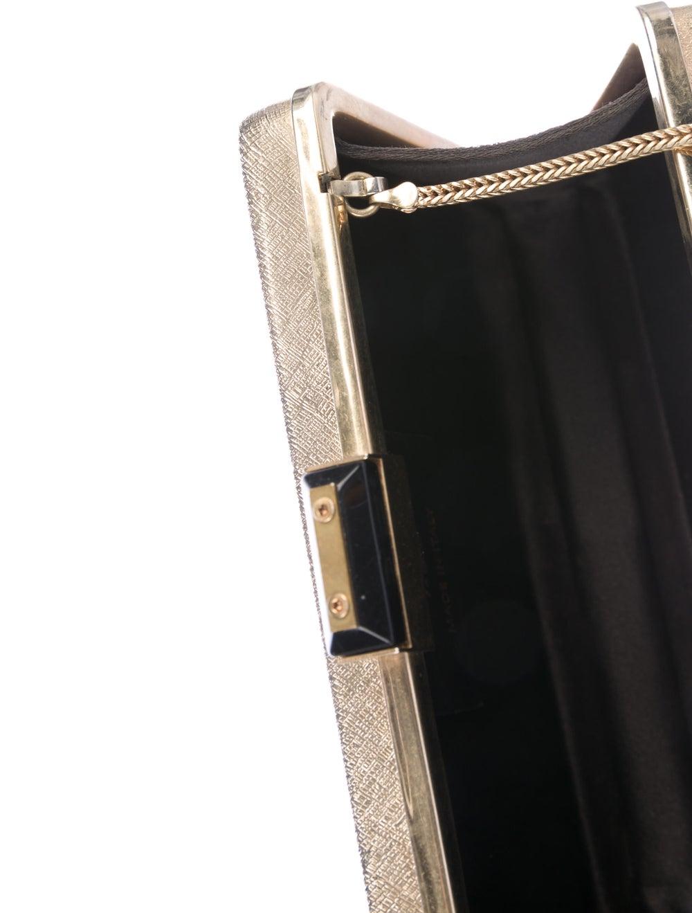 Lanvin Metal Box Clutch Metallic - image 5
