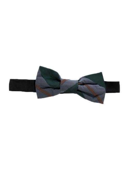Lanvin Woven Bow Tie green