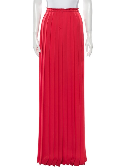Lanvin Pleated Accents Long Skirt Red