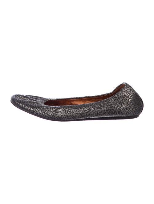 Lanvin Leather Ballet Flats Metallic