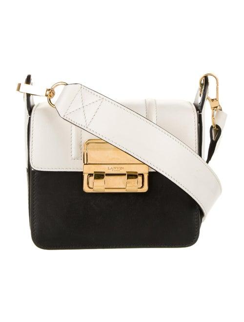 Lanvin Bicolor Crossbody Bag Black