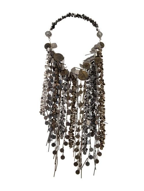Lanvin Multi-Chain Collar Necklace brass