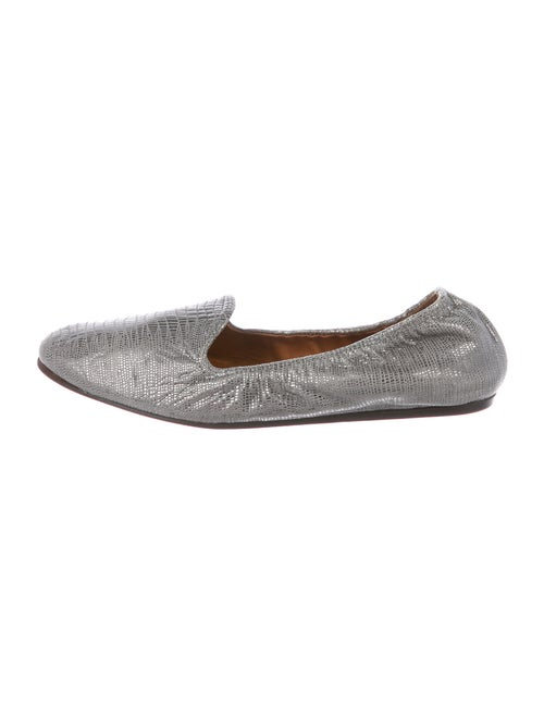 Lanvin Leather Loafers Metallic