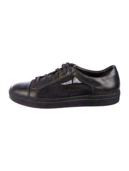 Lanvin Leather Sneakers Black