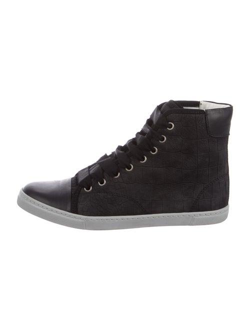 Lanvin Embossed Sneakers Black