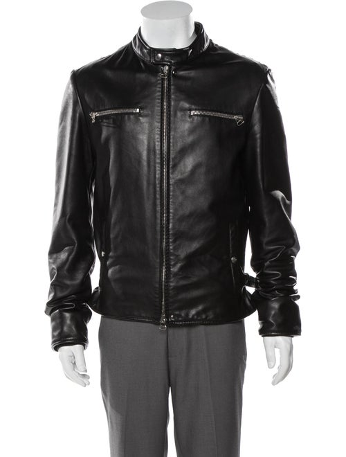 Lanvin Leather Moto Jacket Black