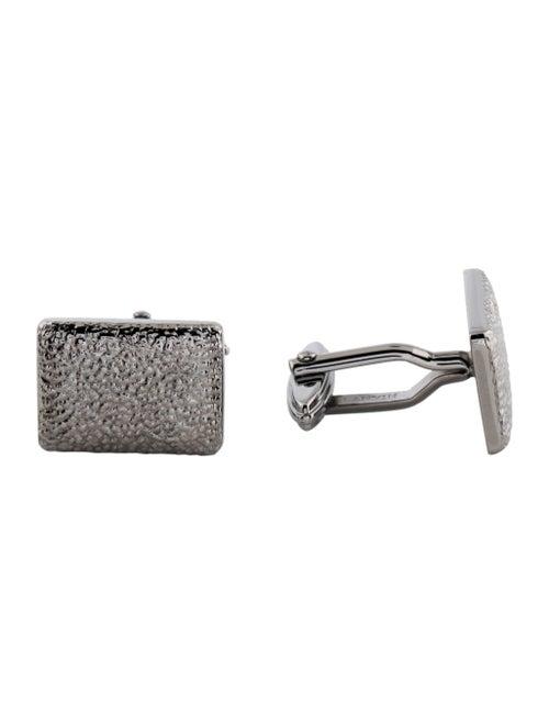 Lanvin Textured Cufflinks Silver