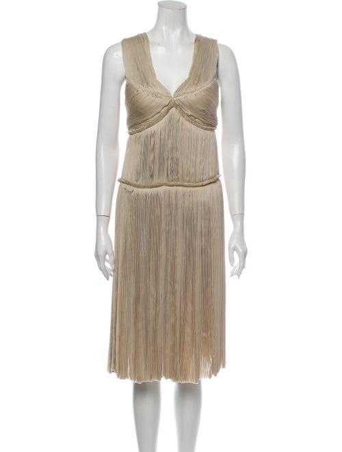Lanvin Silk Midi Length Dress