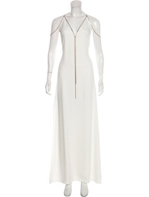 Lanvin Sleeveless Maxi Dress White