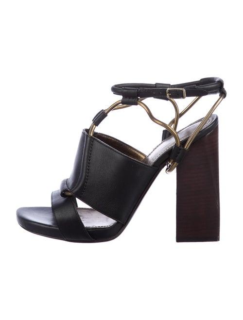 Lanvin Leather Sandals Black